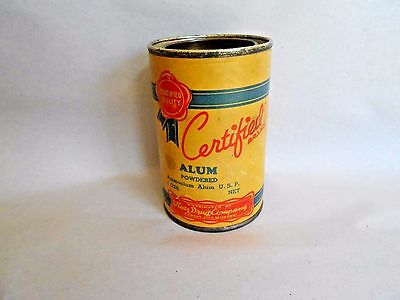 Vintage Katz Drug Store Certified Alum Spice Container with Tin Lid - Full