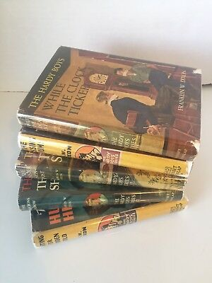 Lot 5 Vintage Hardy Boys hardcover books with Dust Jackets