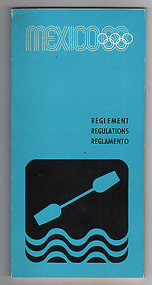 Orig.PRG / Regulations  Olympic Games MEXICO 1968 - CANOE + KAYAK  !!  VERY RARE