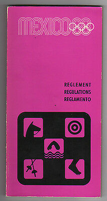 Orig.PRG / Regulations  Olympic Games MEXICO 1968 - MODERN PENTATHLON  !!  RARE