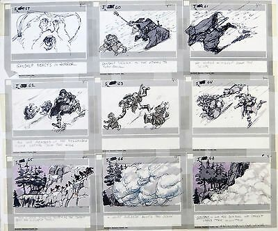 THE LORD OF THE RINGS ART: ORIGINAL RALPH BAKSHI Storyboard+Free Autograph