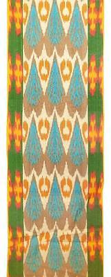Uzbek Handcrafted Woven Silk-Cotton Ikat Adras Fabric A10080