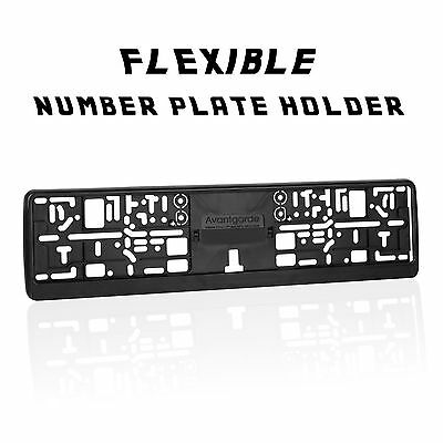 2 x Number Plate Holder for Curved Bumpers Licence Plate Surround Frame ABS O1