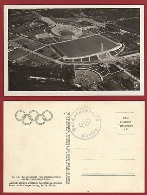 Orig.postcard     Olympic Games BERLIN 1936 - The Olympic parc with Stadium  !!