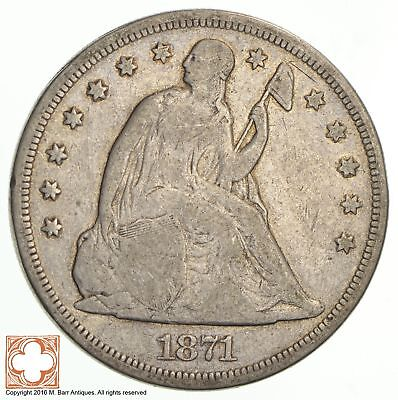 1871 Seated Liberty Silver Dollar *1776