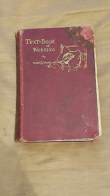RARE, A Text-Book of Nursing By Clara S. Weeks, 1890, 1st edition