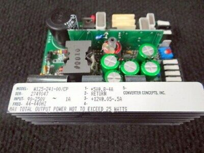 Converter Concepts WI25-241-00/CP Dual Output Power Supply, 5 Vdc  12 vdc