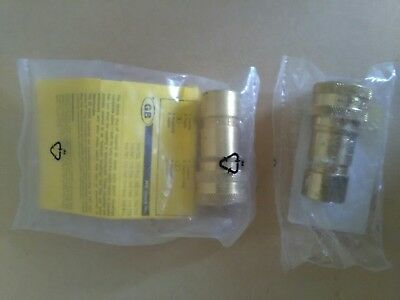 """Parker Brass Female Hydraulic Quick Connect Coupling BH2-60-BSPP 1/4"""""""