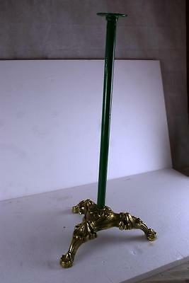 Antique Gumball Machine Stand Brass And Steel Excellent Condition