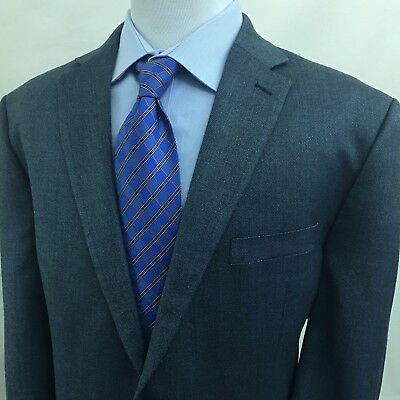 RALPH LAUREN 'Lauren' 48R Men's Sport Coat BLUE Birdseye Silk Blend