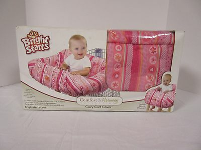 NIB Bright Starts Cozy Cart Cover--Comfort & Harmony Collection--Pink Print