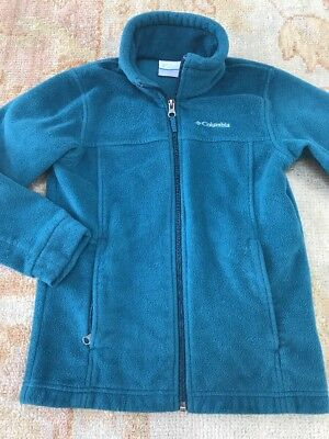 Columbia Boys Fleece In Teal Green  Sz 8 Small EUC
