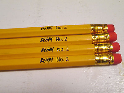 Lot of four No. 2 A&W Root Beer pencils advertisements