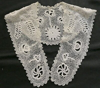 Antique Irish Crochet Collar Design  Inspired by XVII Cen Gross Point Need Lace