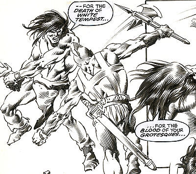 Original Nebres King Conan #18 Page 43 cool action/splash