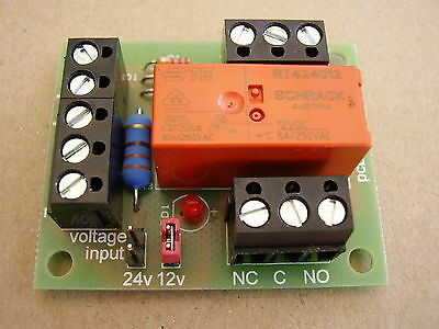 5 x Handy little Relay board, 12/24v DC selectable coil i/p