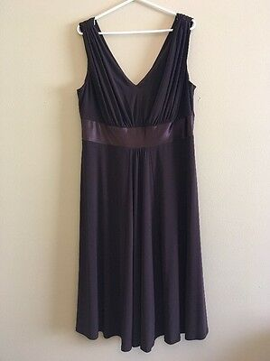 Women's Brown Formal Dress Size 16 By Jones Wear Dress