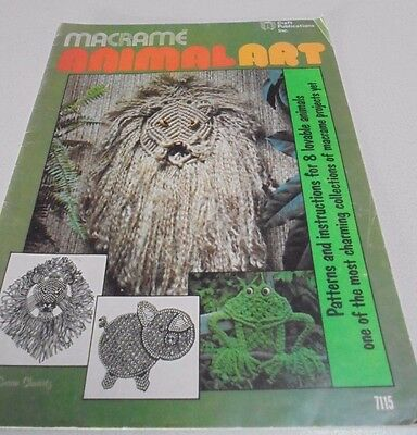 Animal Art Macrame Book 8 Animals to Macrame Pig, Frog, Cat, Lion, Giraffe,Dog