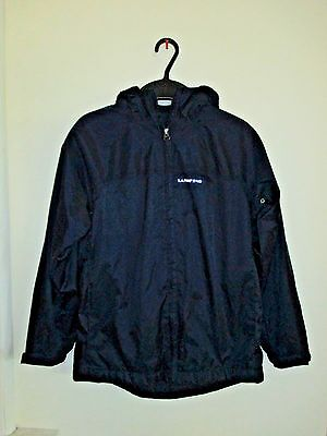 Lands End Dark Blue Lined Hooded Jacket! Boys Size Small! 7/8