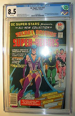 DC Super-Stars #17 CGC 8.5, vf+, 1977, 1st app. Huntress, origin Green Arrow