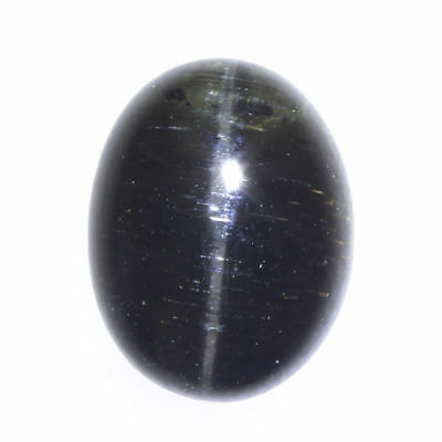 2.670 Ct VERY RARE FINE QUALITY 100% NATURAL SILLIMANITE CAT'S EYE INTENSE CAB!!