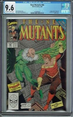 Cgc 9.6 New Mutants #86 1St Appearance Cable Last Page Cameo