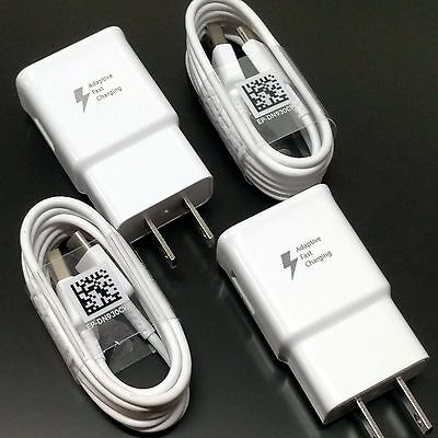 New OEM Samsung Galaxy S8 Edge Plus Type-C Fast Adaptive Wall Charger G5 G6 V20