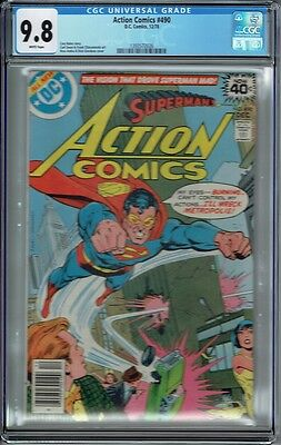 Cgc 9.8 Action Comics #490 White Pages Superman 1978 Dick Giordano Cover