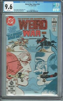 Cgc 9.6 Weird War Tales #124 White Pages Last Issue Classic Ross Andru Cover