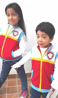 Birthday Party  Paw Patrol Ryder Vest Soft Fleece. Unisex Adult Size M Halloween
