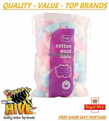 Pretty/quest 100 Cotton Wool Balls Nail Polish Make Up Remover Cleaning Manicure