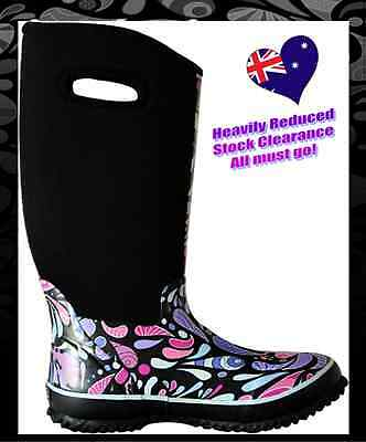 NEW RRP$99.99 LTS Rain Gumboots , Garden and Snow Boot 6, 7, 9, 10