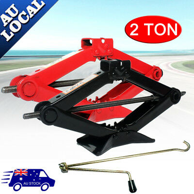 2000KG 2Ton Wind Up Scissor Jack Lift for Car Van Garage w/ Handle Emergency AU