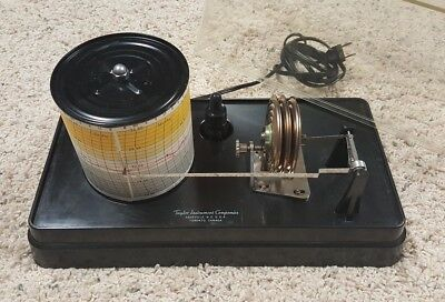 Beautiful Taylor Barograph Tested Clean Charts Ink Pens  Instructions