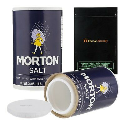 Morton Salt Diversion Safe Stash Can w HumanFriendly Smell-Proof Bag