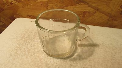 Antique Glass Measuring Cup Napanee Milling Flour Indiana