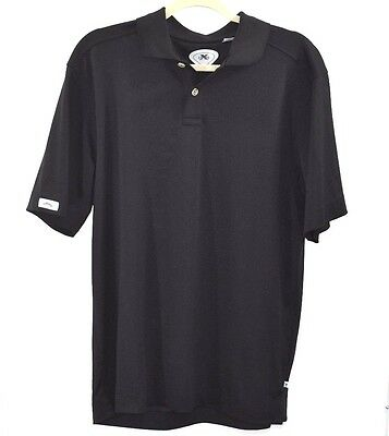 Callaway Golf Mens Polo Shirt Size Medium X Series No Iron Black Short Sleeve