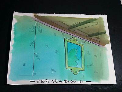 Freaky Stories (1998) Hand Painted Production Animation Background Canadian TV 2