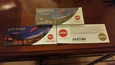 4 AMC Movie Theater Gold Tickets