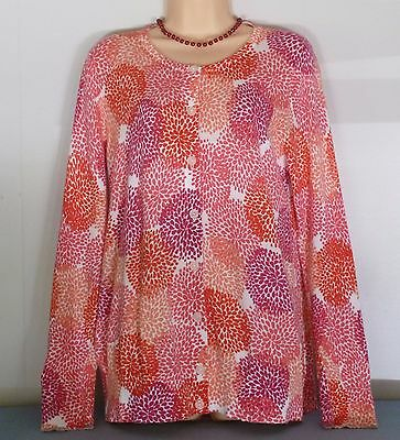 Old Navy Maternity Pink Multi Colored Button Front Lightweight Sweater Sz L