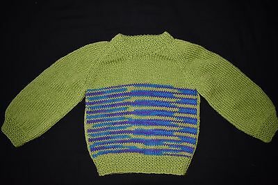 Child's knitted jumper, size 2 - 3 - handmade