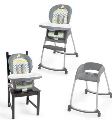 Ingenuity Trio High Chair Ridgedale 3 in 1,Convertible,Reclining 5 point harness
