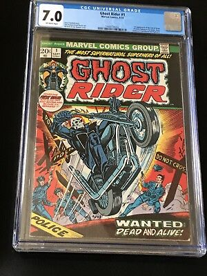 Ghost Rider #1 *1st App Of The Son Of Satan*CGC 7.0 + NEW CASE-UNCIRCULATED.