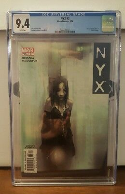 NYX #3 (Feb 2004, Marvel) CGC 9.4! 1st Appearance X-23!