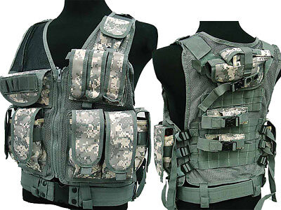 Tactical 045 Molle Combat Vest Magazine Pouch Airsoft Paintball Military ACU