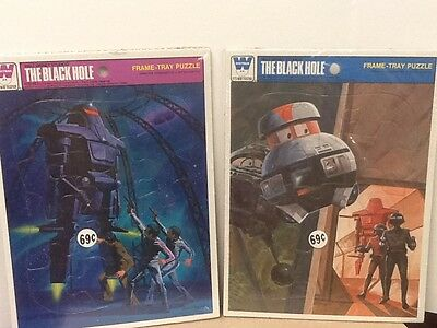 The Black Hole, 2  New Unopened Puzzles 1979 4520-4A & 4520-4B Factory Sealed