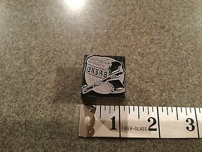 Printing Printers Block LOAF OF BREAD & KNIFE KITCHEN COOKING