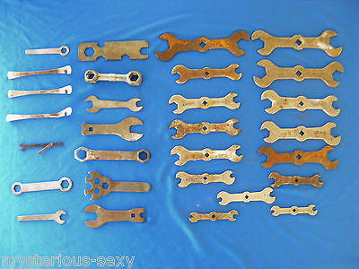 29 Assorted Vintage PUSH BIKE / BICYCLE SPANNERS ~POPE, CLIPSAL, MADE IN ENGLAND