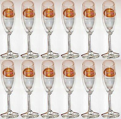 Lot of 12 NEW SMIRNOFF ICE Champagne Malt Vodka Football Libbey Flute Glasses