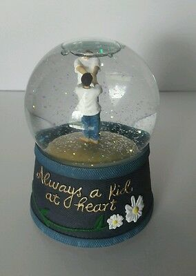ALWAYS A KID AT HEART MUSICAL SNOWGLOBE by WESTLAND  FOREVER IN BLUE JEANS NEW!